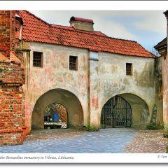 Courtyard of the Bernardine Monastery, Vilnius