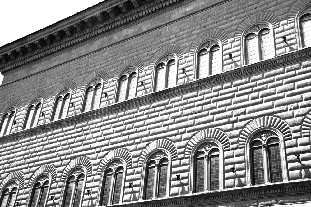 photoblog image <br>Images of Florence - 7: Facade of Palazzo Strozzi