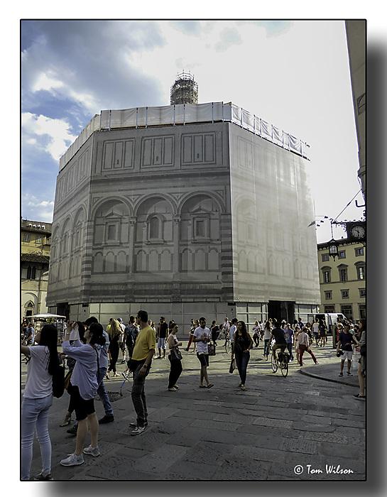 photoblog image Florence - the Baptistry, wrapped!