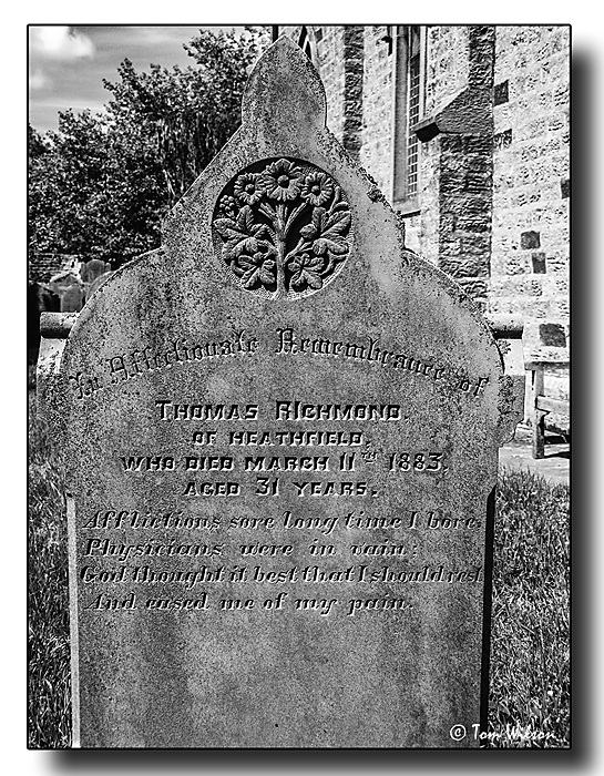 photoblog image Sad story from a country graveyard.