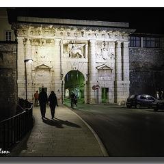 The Venetian Gate by Night, Zadar, Croatia