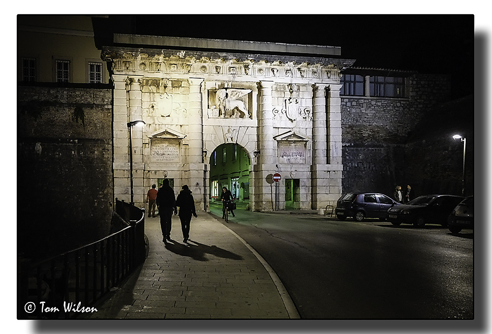 photoblog image The Venetian Gate by Night, Zadar, Croatia
