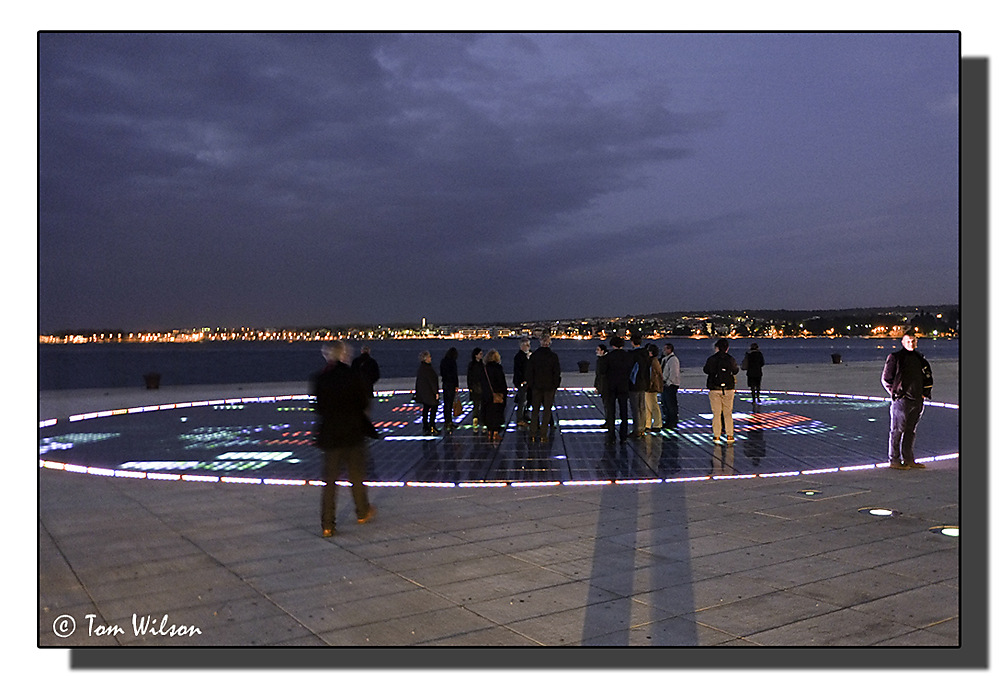 photoblog image Standing on the sun - Zadar by night - 5