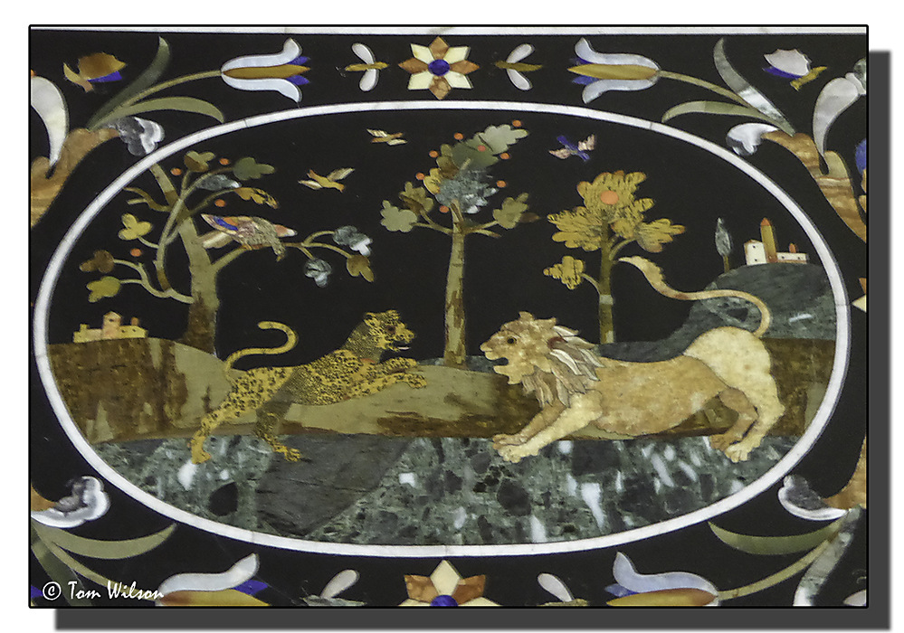 photoblog image Marble marquetry!
