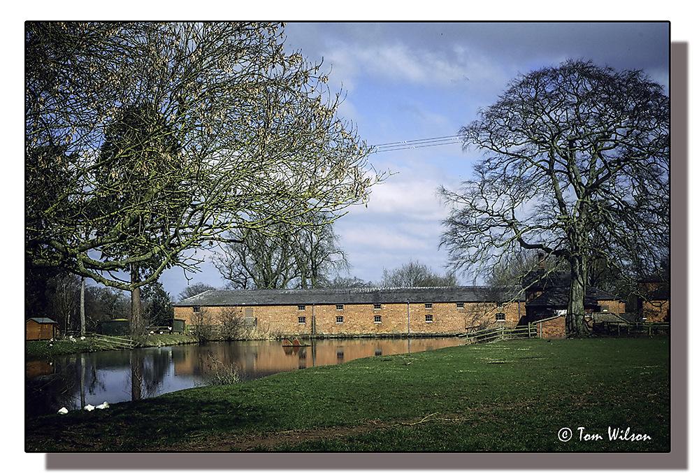 photoblog image Shugborough - Farm Buildings and Mill Pond