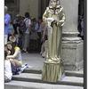 A third living statue