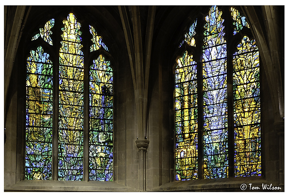photoblog image Tewkesbury Abbey - modern stained glass