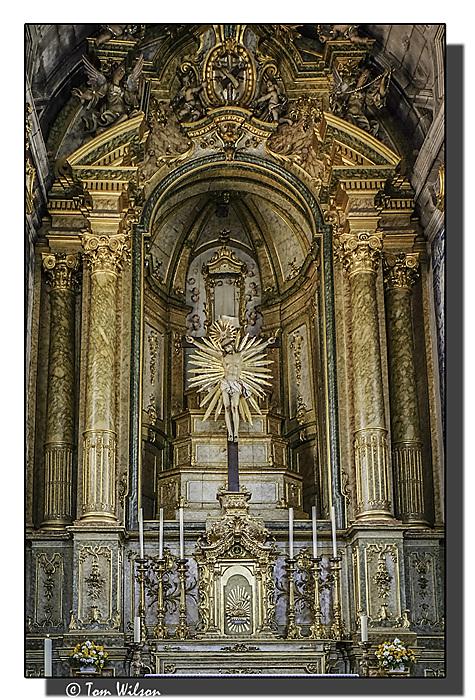 photoblog image Braga - church altar