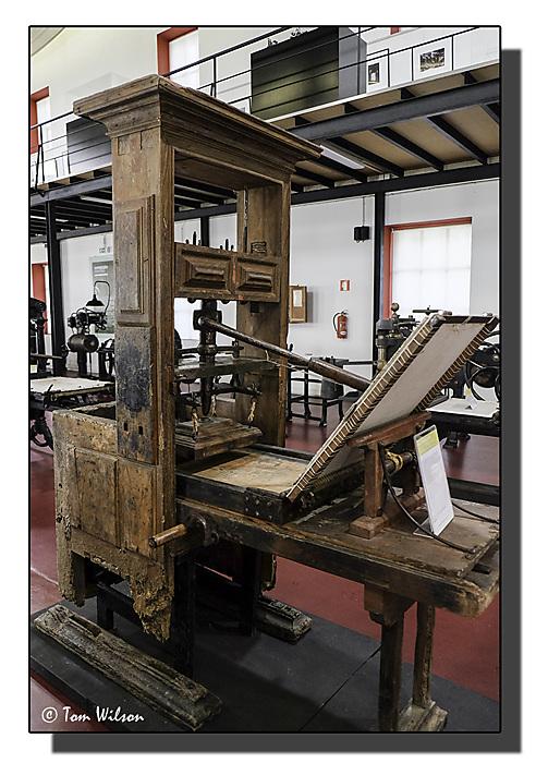 photoblog image Porto - an early printing press