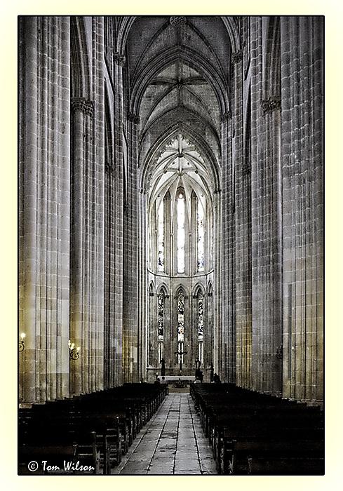 photoblog image Batalha - nave of the monastery church