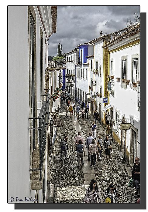 photoblog image Obidos, Portugal - street scene