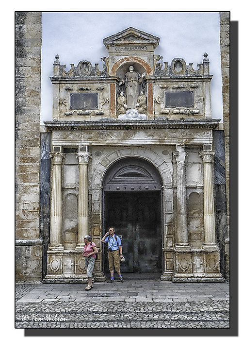 photoblog image Obidos - Doorway of St Mary's Church