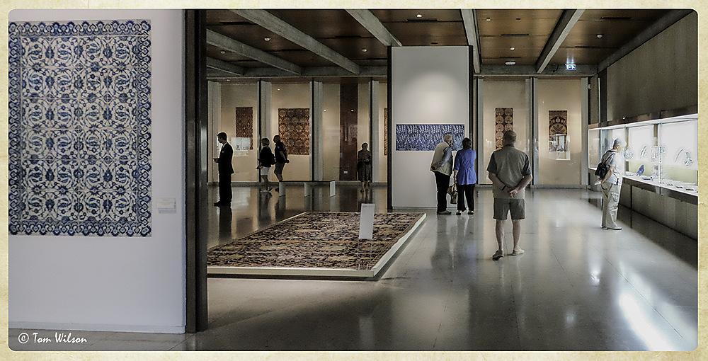 photoblog image Gulbenkian museum - carpet and tile gallery