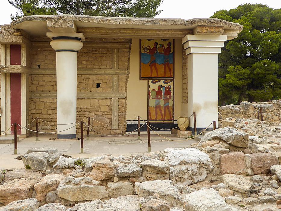photoblog image Knossos - cup bearers fresco
