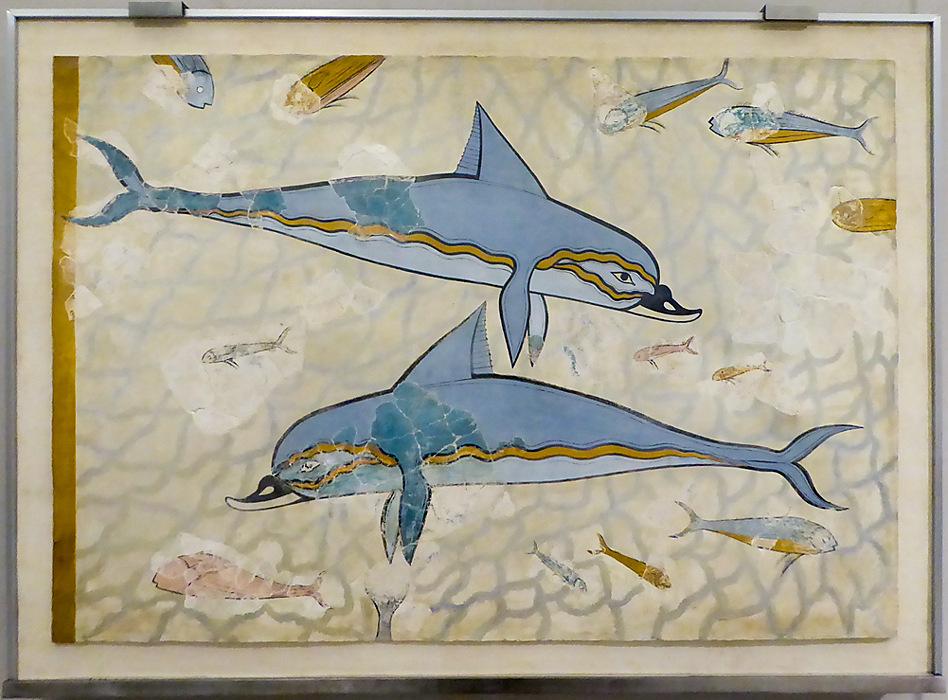 photoblog image Knossos - Dolphin fresco - Heraklion museum