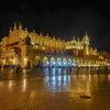 Krakow-Cloth Hall by night