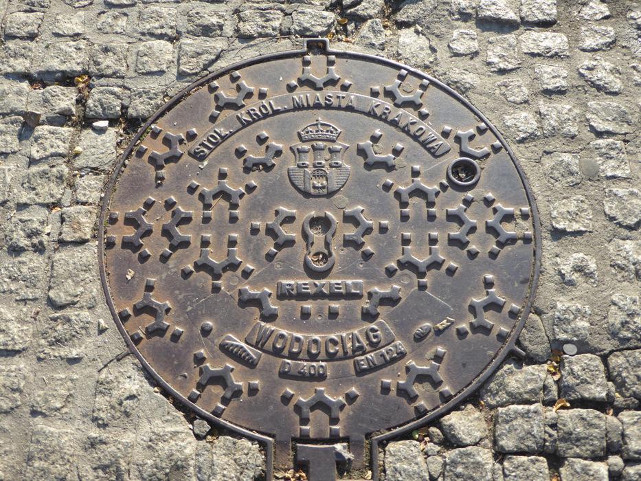 photoblog image Krakow-Fancy manhole cover
