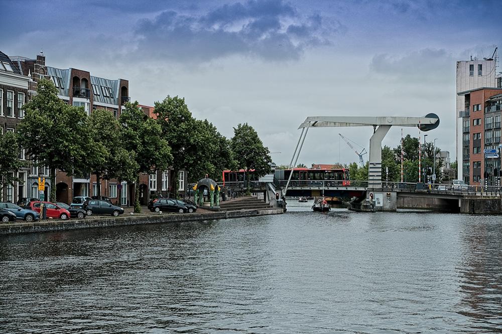 photoblog image Haarlem - lifting bridge