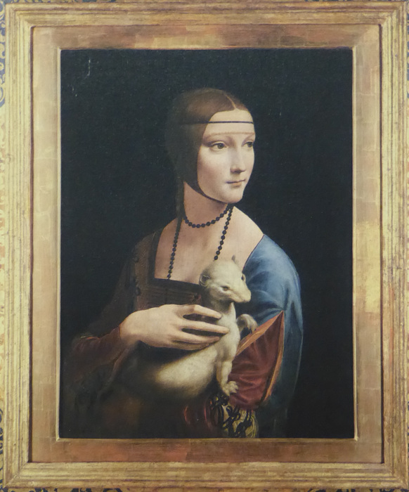 photoblog image Leonardo's 'Lady with an Ermine'.