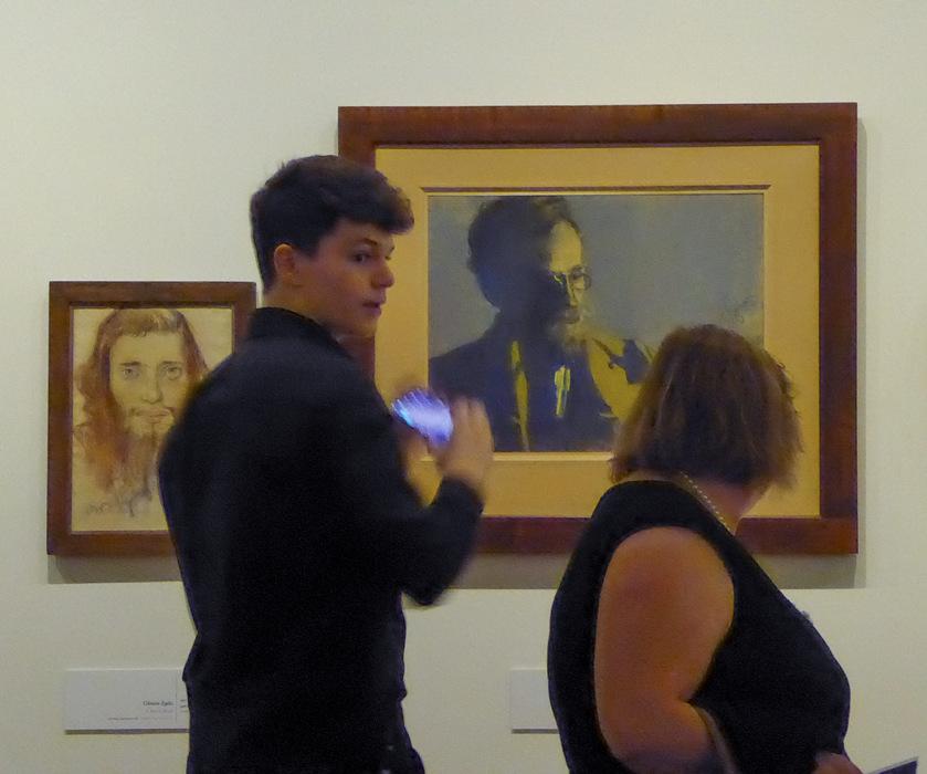 photoblog image Wyspianski exhibition - passing by
