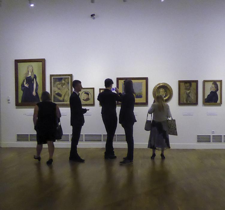 photoblog image Wyspianski exhibition-people and pictures