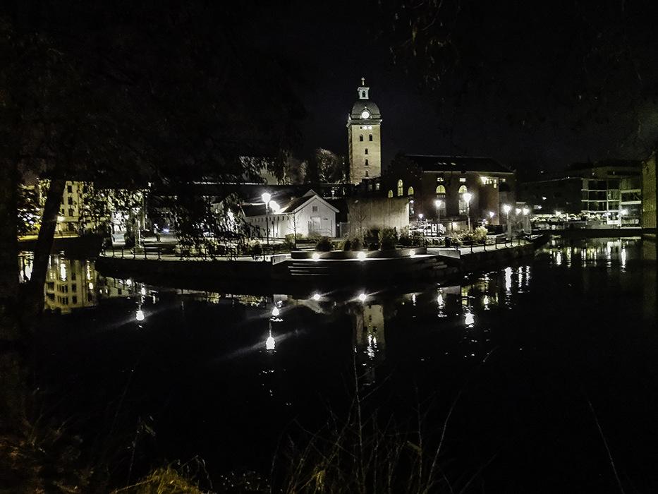 photoblog image Boras by night