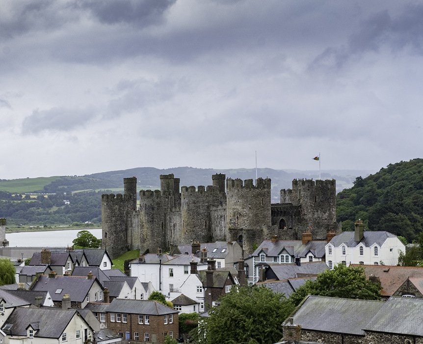 photoblog image Conwy Castle from Plas Mawr