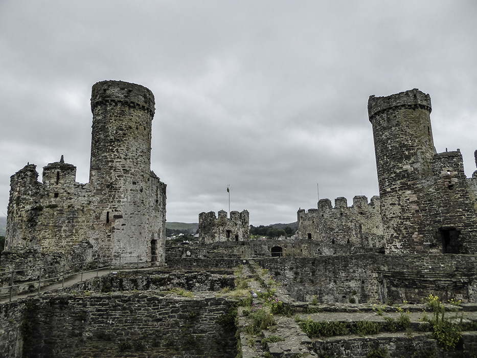 photoblog image Conwy castle towers
