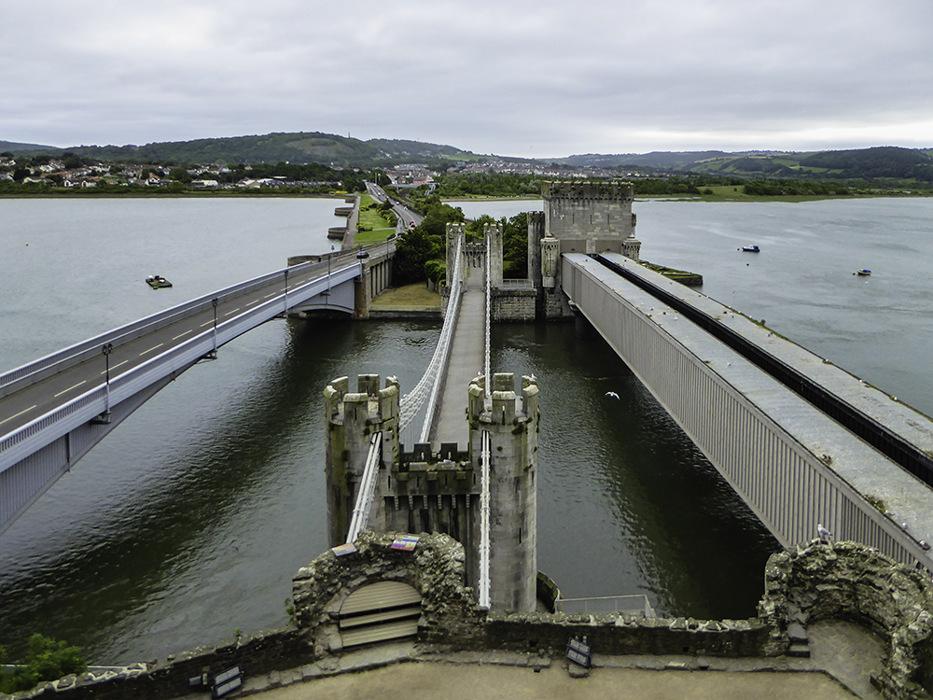 photoblog image Conwy's three bridges