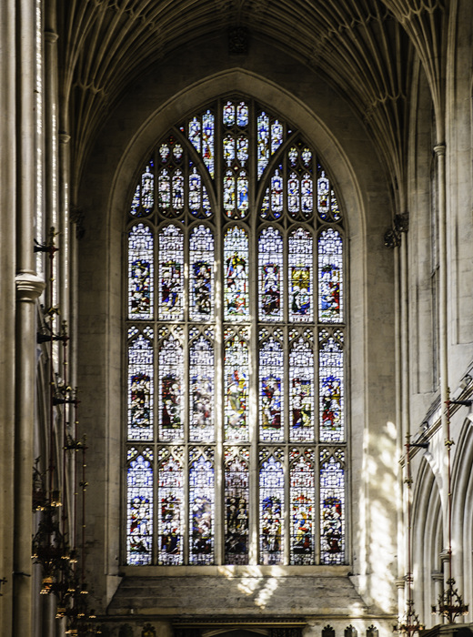 photoblog image Bath Abbey-stained glass
