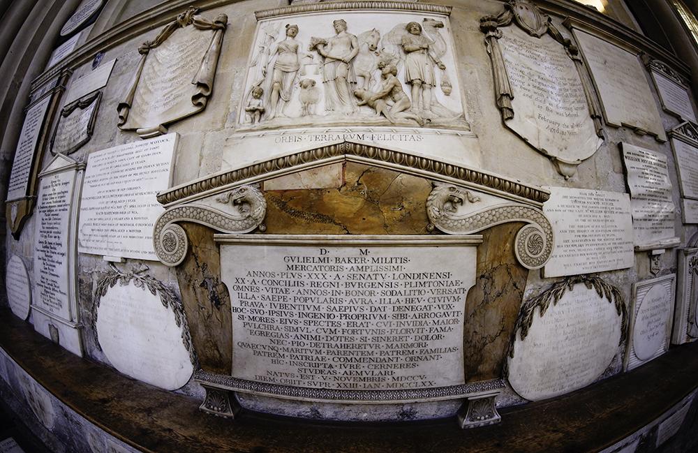 photoblog image Bath Abbey-memorials