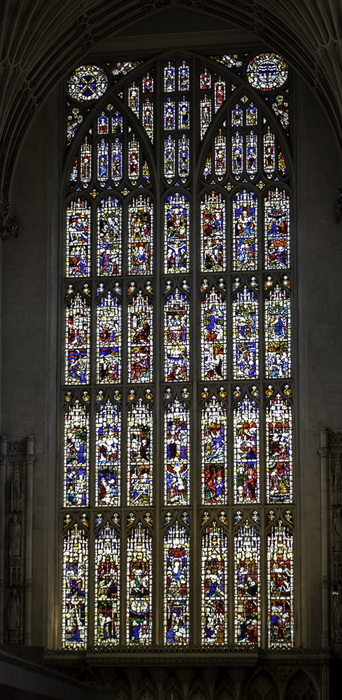 photoblog image Bath Abbey-more stained glass