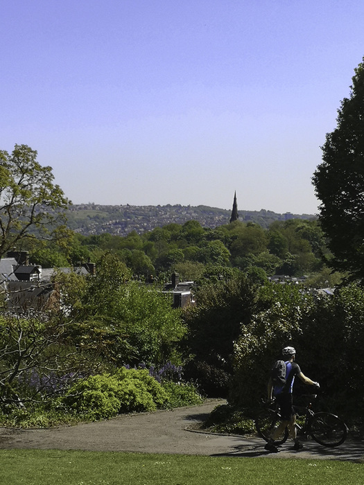 photoblog image Sheffield from the Gardens