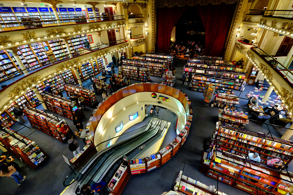 photoblog image Stunning Bookstore in Buenos Aires, Argentina