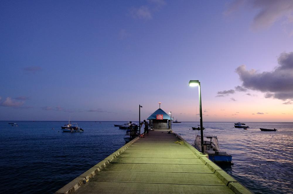 photoblog image Pier at sunset in Barbados