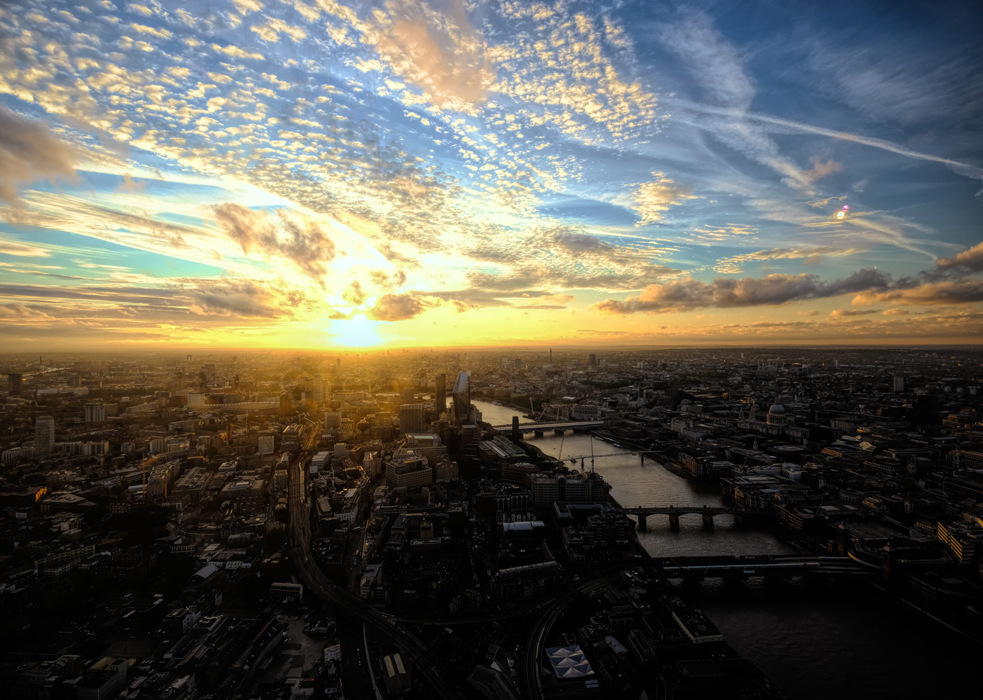 photoblog image A London sunset from the Shard