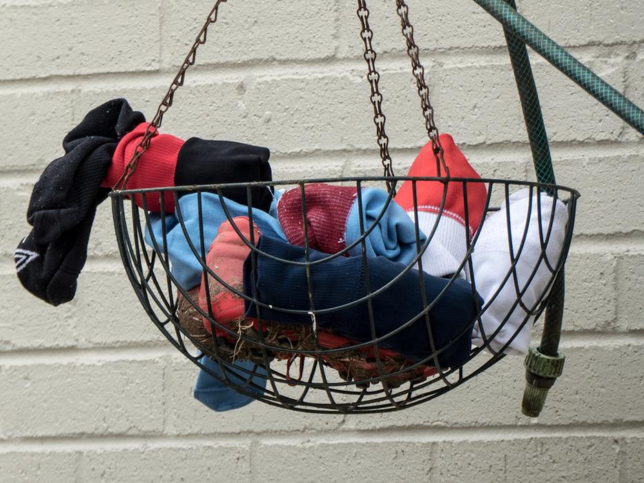 photoblog image Hanging /washing basket