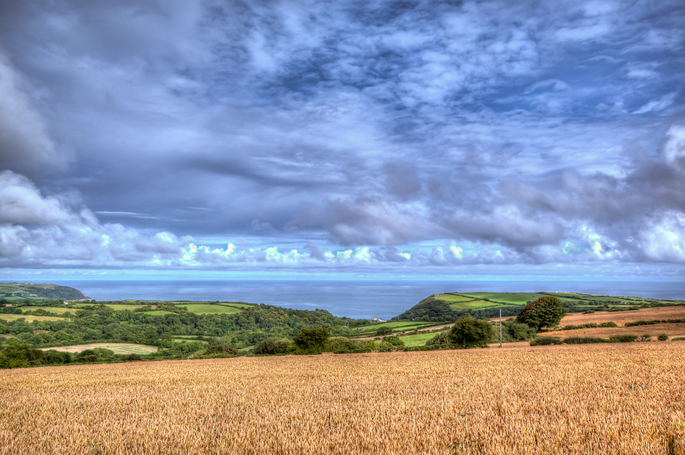 photoblog image Cardigan Bay from somewhere along the road