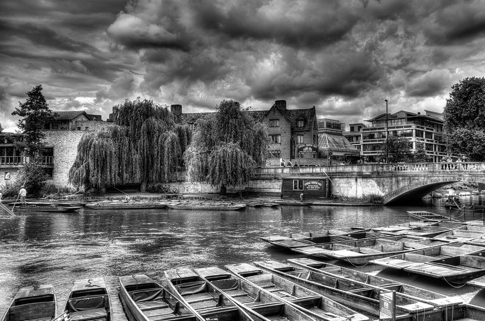 photoblog image A load of punts in Cambridge