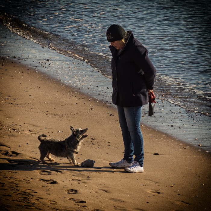 photoblog image Person with dog