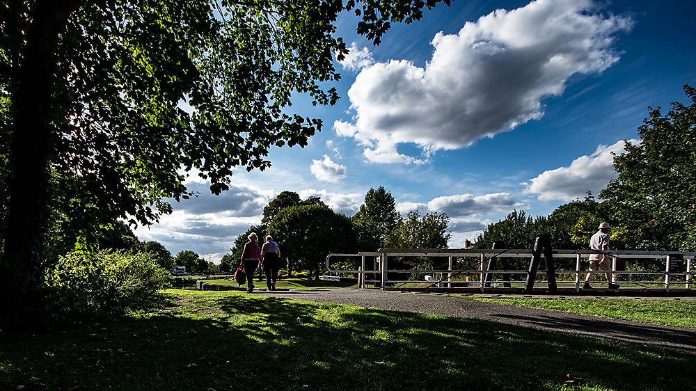 photoblog image Strolling in the park