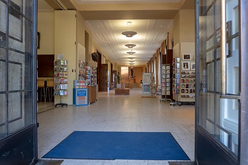 photoblog image The barber Institute Entrance.