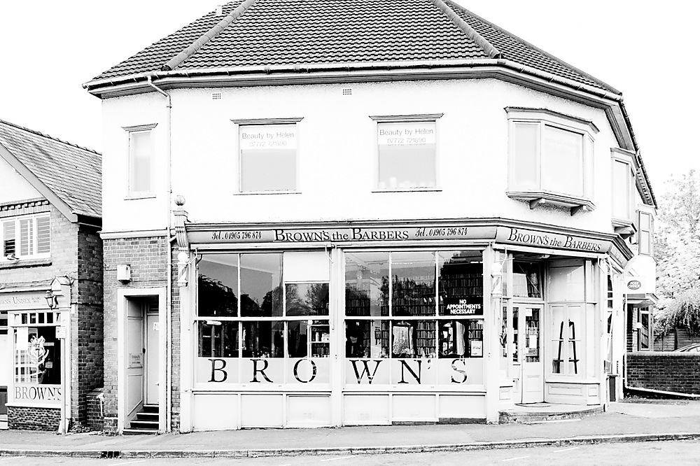 photoblog image Brown's the Barber