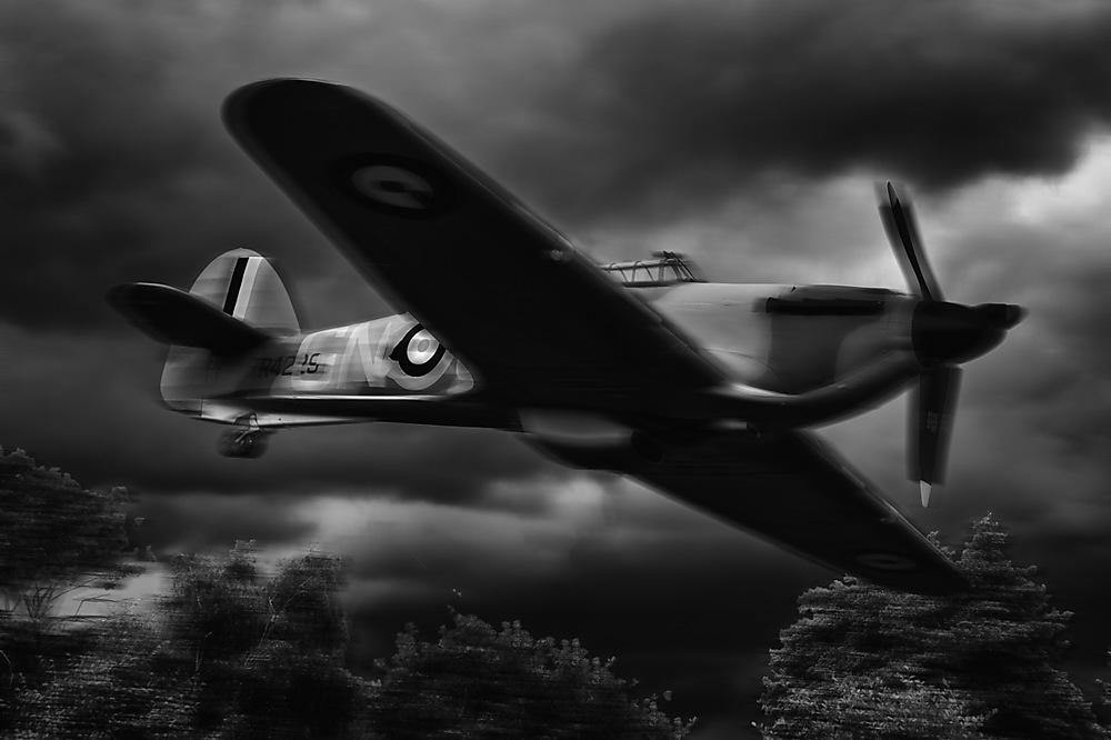 photoblog image Low flying Hurricane