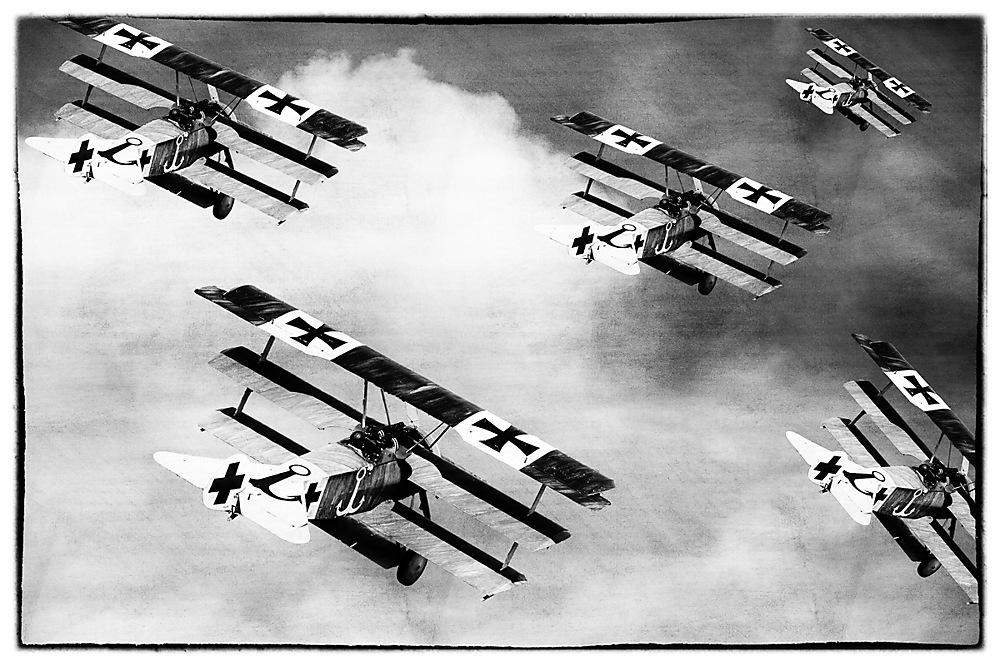 photoblog image Fokker triplanes