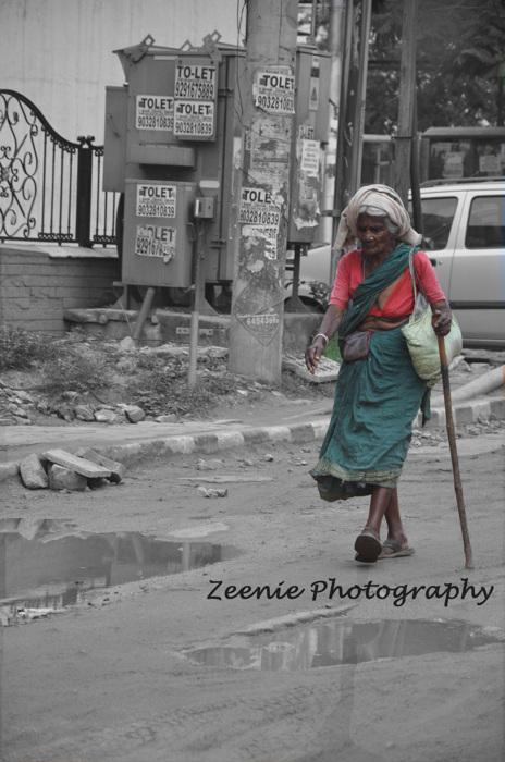 photoblog image old Indian woman